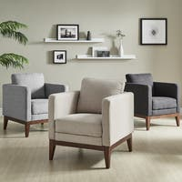 Perry Linen Upholstered Accent Chair by iNSPIRE Q Modern