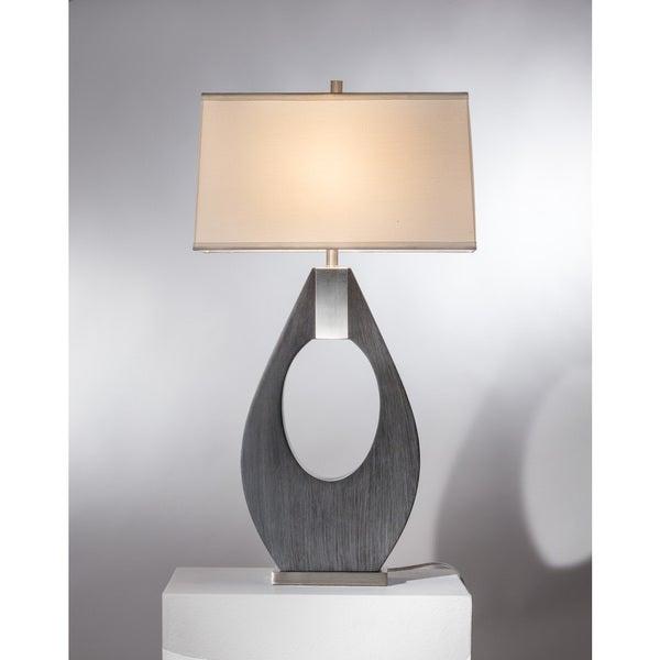 Nova Lighting Bass Clef Table Lamp, Charcoal Gray