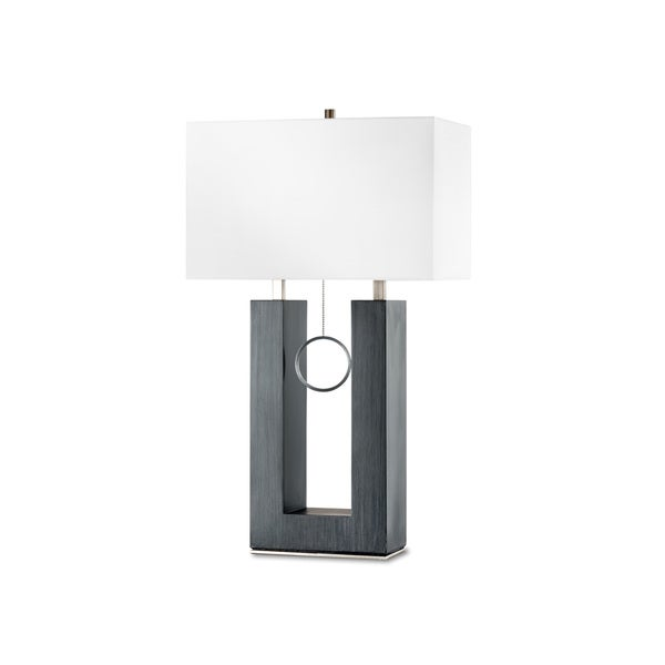 Nova Earring Standing Table Lamp, Charcoal Gray