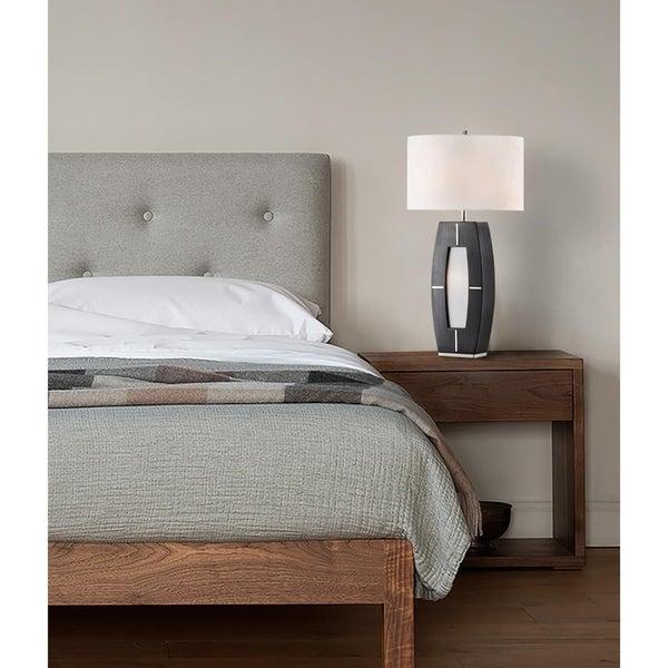 Nova Delacy Grey Metal Table Lamp