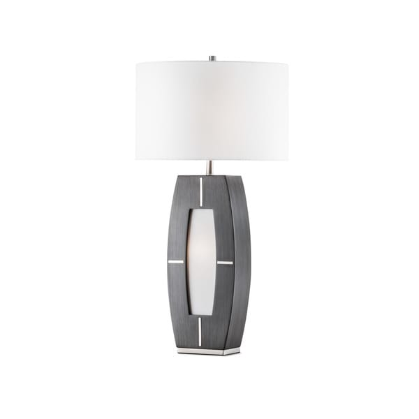Nova Lighting Delacy Table Lamp, Charcoal Gray