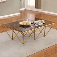 Best Quality Furniture Rectangular Glass Top Coffee Table