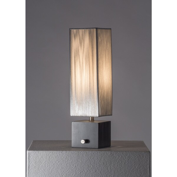 Nova Cascade Accent Table Lamp, Charcoal Gray