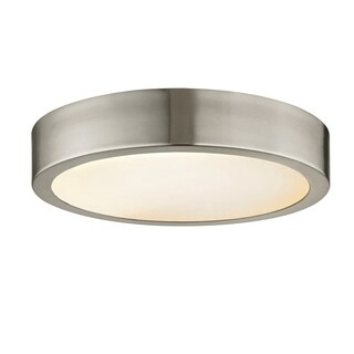 Fifth and Main Cadence 11-inch LED Brushed Nickel Flush Mount, Etched Glass
