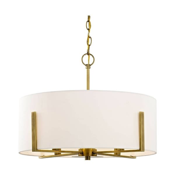 Fifth And Main Manhattan 4 Light Aged Br Pendant