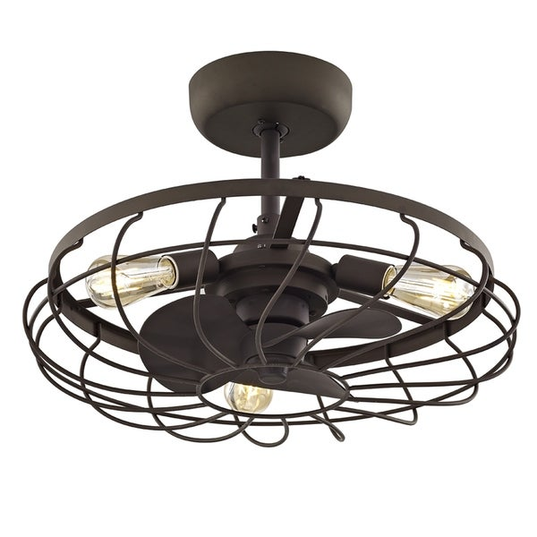 A8102 A C Ceiling Light: Shop Fifth And Main Santiago 3-light Aged Bronze Ceiling