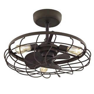 Fifth and Main Santiago 3-light Aged Bronze Ceiling Fan