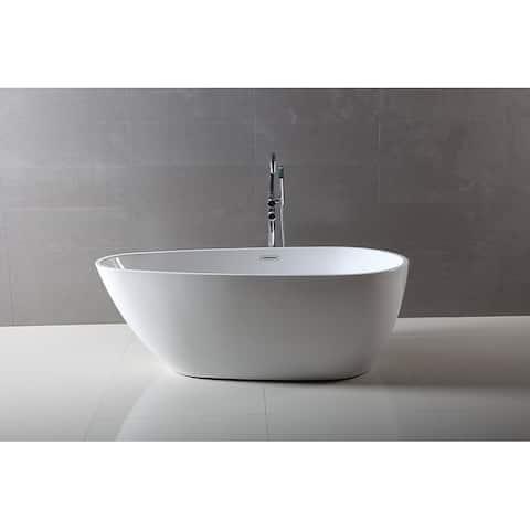 Dyconn Faucet Freestanding Acrylic Bathtub