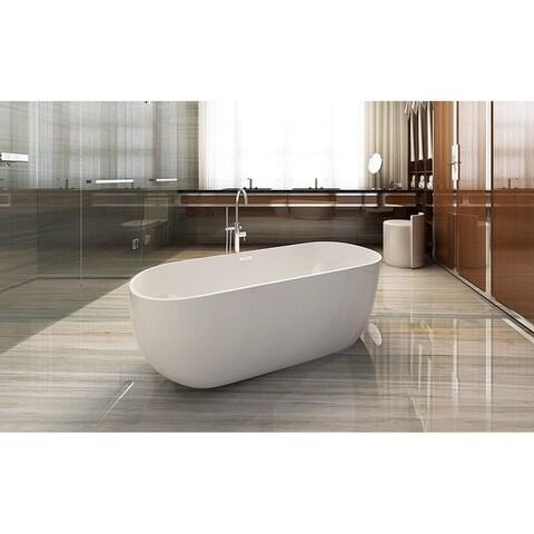 Dyconn Faucet Akimoto Freestanding Acrylic Bathtub