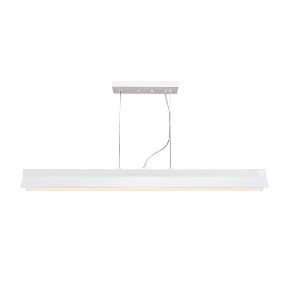 Integrated LED Island Light in White Finish 90 Cri And 3000 Kelvins