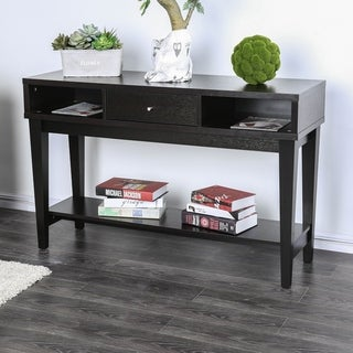 Furniture of America Miti Contemporary Brown Solid Wood Console Table