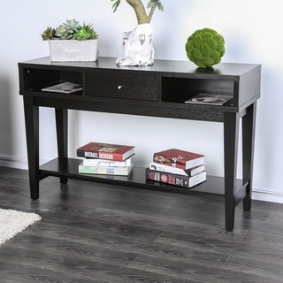 Sensational Cassandra Contemporary Espresso 1 Drawer Console Table By Foa Overstock Com Shopping The Best Deals On Coffee Sofa End Tables Ibusinesslaw Wood Chair Design Ideas Ibusinesslaworg