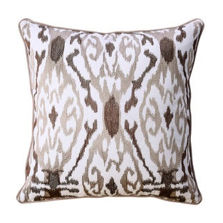 Furniture of America Halea 20-inch Latte Brown Ikat Throw Pillows (Set of 2)