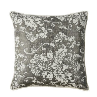 Furniture of America Clifton 20-inch Silver Floral Throw Pillows (Set of 2)