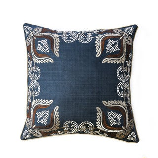 Furniture of America Evers 20-inch Navy Blue Decorative Throw Pillows (Set of 2)