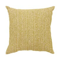 Furniture of America Willa Natural Houndstooth Throw Pillow (set of 2)