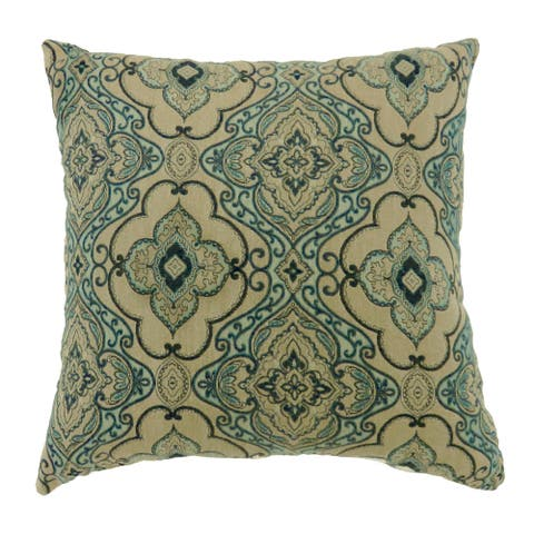 Furniture of America Nit Traditional Green Throw Pillows Set of 2