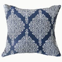Furniture of America Charma Traditional Blue Intricate Floral Throw Pillow
