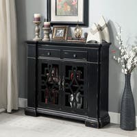 Furniture of America Tassela Antique Black 2-door Accent Cabinet