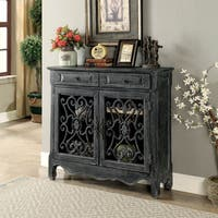 Furniture of America Belmont Antique-black Hallway Cabinet