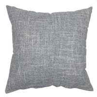 "Cotton Linen Blend Grey Square Decorative Throw Cushion Cover 18""X18"""