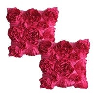 Rose Flower Square Pillowcase Bed Sofa Cushion Flowers Pillow Covers
