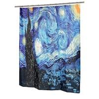 """Night Fabric Shower Curtain, 72""""L x 70""""W"""