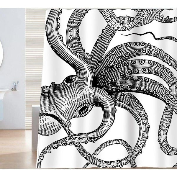 Shop Ocean Theme Giant Octopus Tentacles Shower Curtain