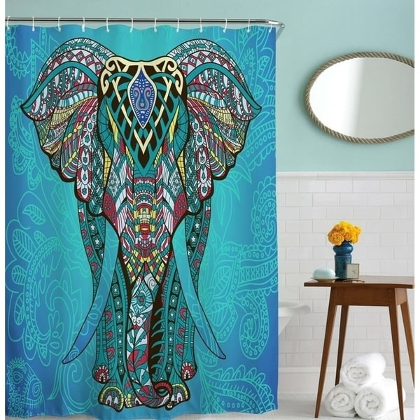 Shop Elephant Shower Curtain By Goodbath Waterproof And Mildew Curtains
