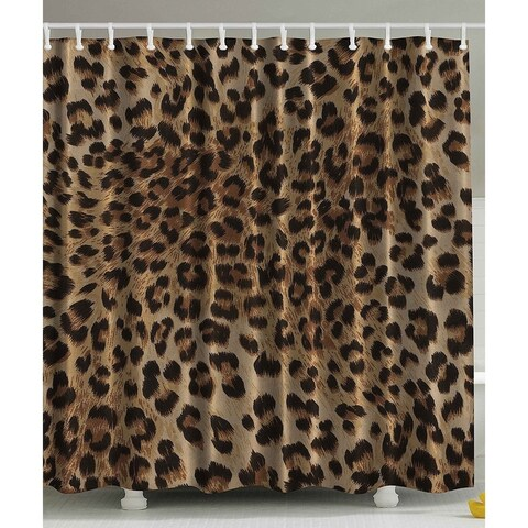 Bathroom Accessories Leopard Print Sexy Shower Curtain - N/A