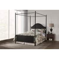 Industrial Black Canopy Bed By Baxton Studio Free