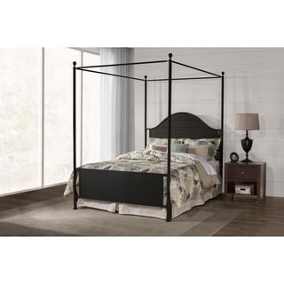 Hillsdale Furniture Cumberland Black Metal Canopy Queen Size Bed Frame  sc 1 st  Overstock.com & Queen Size Canopy Bed For Less | Overstock.com