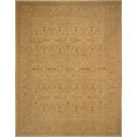 Noori Rug Ankara Fabiola Gold/Beige Wool Turkish Hand-knotted Area Rug - 9'4 x 12'