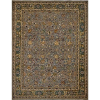 Noori Rug Turkish-Knotted Ankara Felicia Grey/Green Rug - 9'0 x 11'6