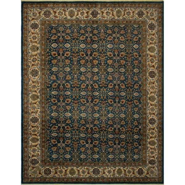 Shop Noori Rug Turkish-Knotted Ankara Serena Teal Green