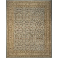 Noori Rug Ankara Crystal Green/Beige Wool Turkish-knotted Rug - 9'1 x 11'9