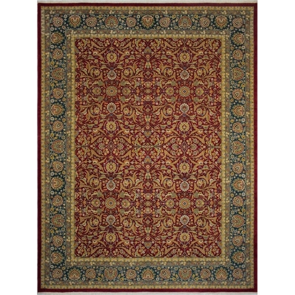 Shop Noori Rug Turkish-Knotted Ankara Virginia Red/Teal