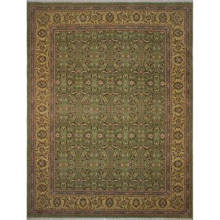 Noori Rug Turkish-Knotted Ankara Gillian Green/Yellow Rug - 9'2 x 12'2