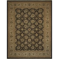 Noori Rug Turkish-Knotted Ankara Jude Chocolate/Beige Rug - 9'3 x 12'2