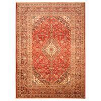 Handmade Herat Oriental Persian Hand-Knotted Kashan Wool Rug (8'1 x 11'1) - 8'1 x 11'1