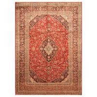 Handmade Herat Oriental Persian Hand-Knotted Kashan Wool Rug (Iran) - 8'1 x 11'7