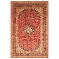 Handmade Herat Oriental Persian Hand-Knotted Kashan Wool Rug (8' x 12'3)