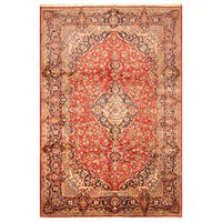 Handmade Herat Oriental Persian Hand-Knotted Kashan Wool Rug (Iran) - 8'2 x 12'