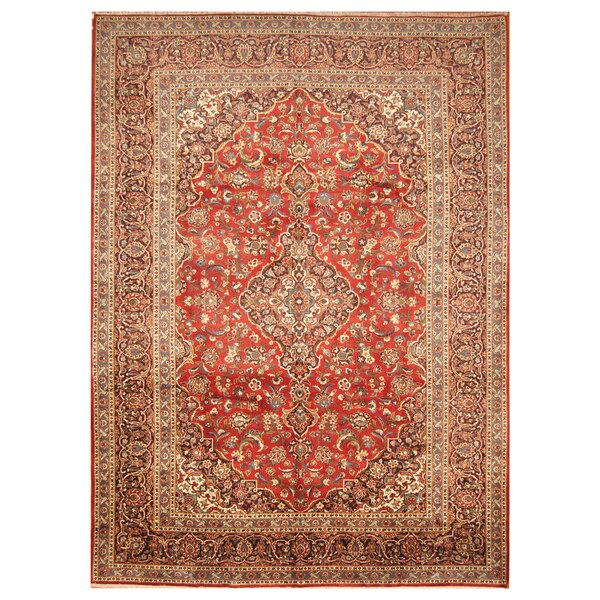 Handmade Herat Oriental Persian Hand-Knotted Kashan Wool Rug (Iran) - 9' x 12'4