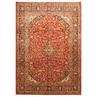 Handmade Herat Oriental Persian Hand-Knotted Kashan Wool Rug - 8'3 x 11'8