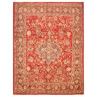 Handmade Herat Oriental Persian Hand-Knotted Mahal Wool Rug (8'2 x 10'7) - 8'2 x 10'7
