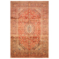 Handmade Herat Oriental Persian Hand-Knotted Kashan Wool Rug (8' x 11'10) - 8' x 11'10