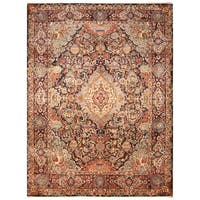 Handmade Herat Oriental Persian Hand-Knotted Kashmar Wool Rug - 9'9 x 12'7