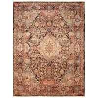 Handmade Herat Oriental Persian Hand-Knotted Kashmar Wool Rug - 9'9 x 12'7 (Iran)