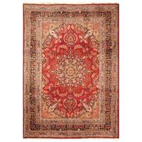 Handmade Herat Oriental Persian Hand-Knotted Mashad Wool Rug (8 x 11'3) - 8 x 11'3